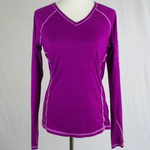 Athleta Activewear V-neck Long Sleeve Top S Small